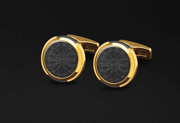CUFFLINKS FOR MEN GOLD