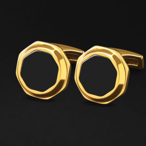 Luxurious golden cufflinks