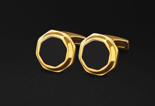 Luxurious golden cufflinks
