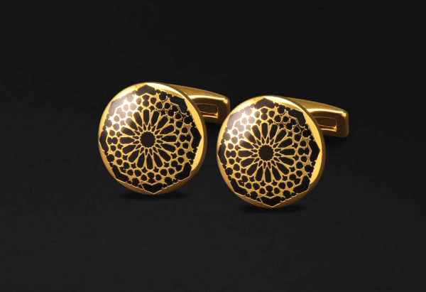 DAHNAG CUFFLINKS FOR ME GOLD BLACK