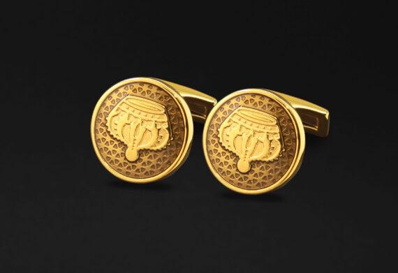 DAHNAG CUFFLINKS FOR MEN GOLD