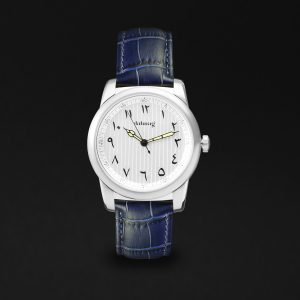 WATCHE SILVER BLUE BELTE